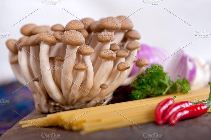 Italian pasta and mushrooms sauce ingredients 008.jpg - Food & Drink