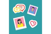 Bloggers Male and Female, Stickers