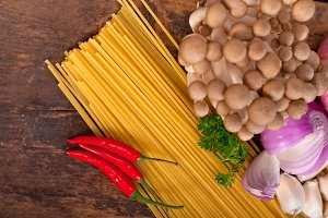 Italian pasta and mushrooms sauce ingredients 014.jpg