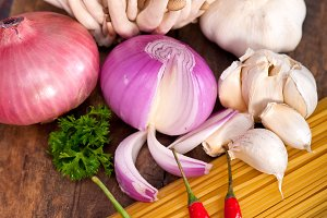 Italian pasta and mushrooms sauce ingredients 023.jpg