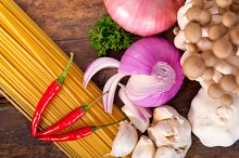 Italian pasta and mushrooms sauce ingredients 029.jpg