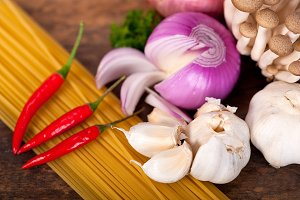 Italian pasta and mushrooms sauce ingredients 036.jpg
