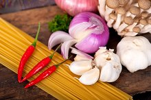Italian pasta and mushrooms sauce ingredients 035.jpg