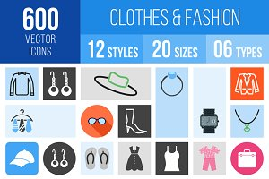600 Clothes & Fashion Icons