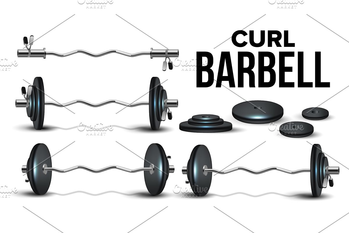 Curl Barbell Lifting Collapsible Kit