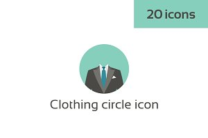 Clothing circle icon