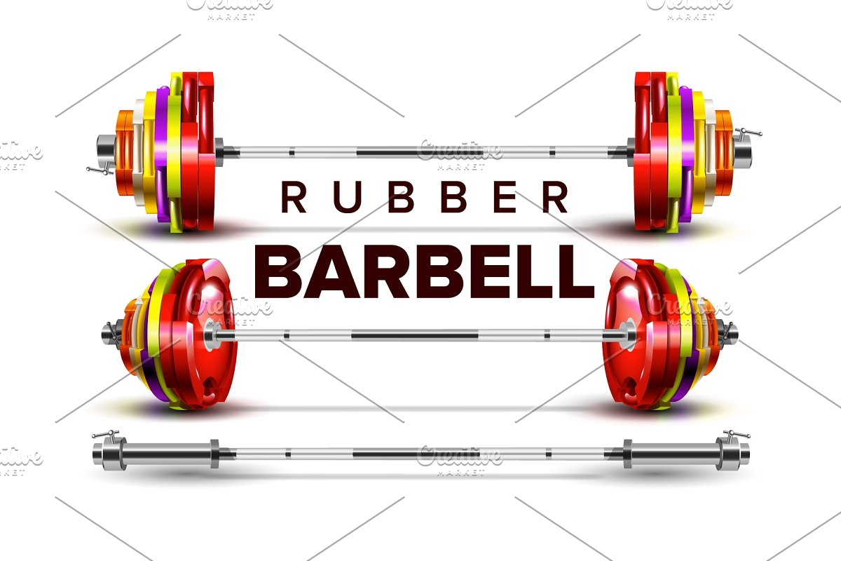 Rubber Barbell Lifting Collapsible