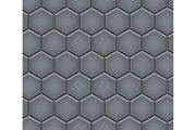 Seamless pattern of hex cobblestone