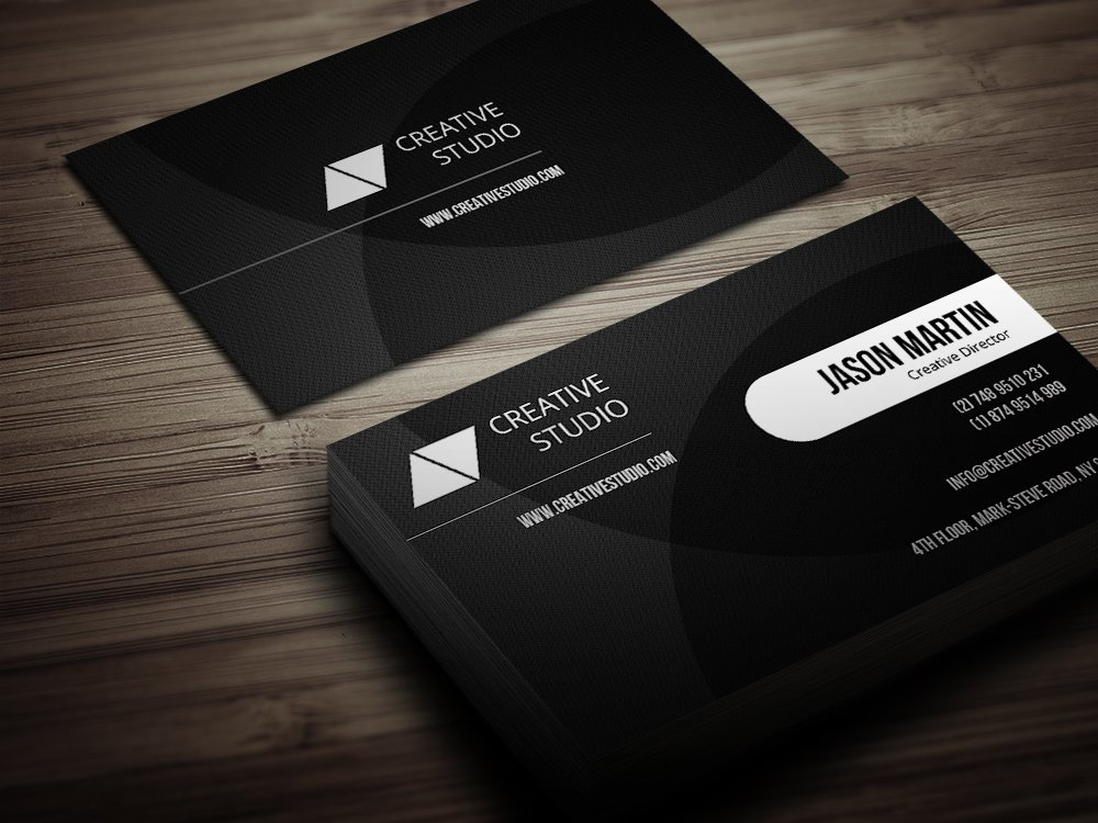 Creative dark business card business card templates creative market colourmoves