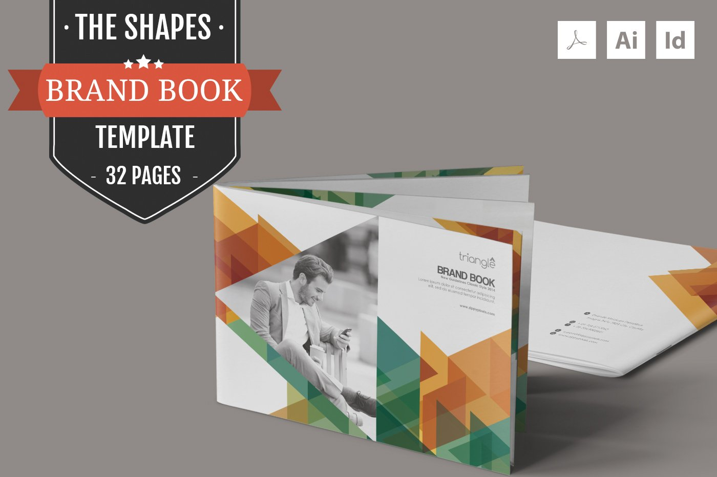 The Shapes-Brand Guidelines Template ~ Brochure Templates ~ Creative ...