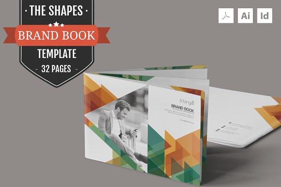 the shapes brand guidelines template brochures