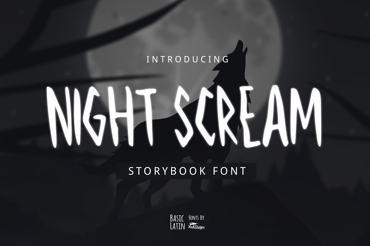 Night Scream Font