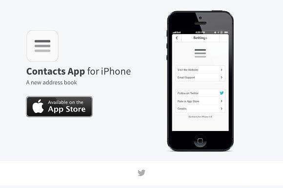 App Website Template Htmlcsspsd Themes Creative Market