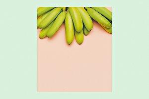 Fashion photo bananas