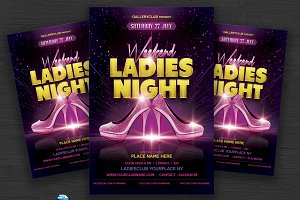Weekend Ladies Night Flyer