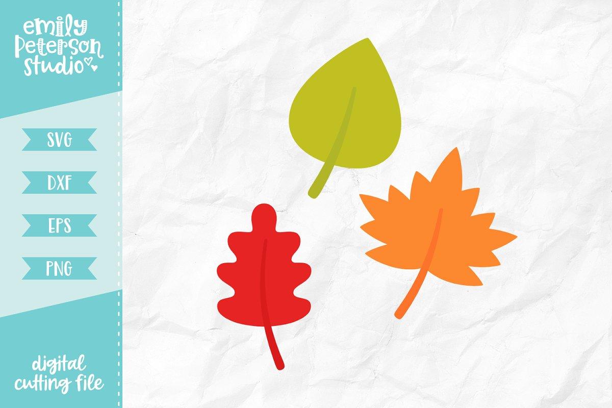 Fall Leaves Svg Dxf Custom Designed Illustrations Creative Market