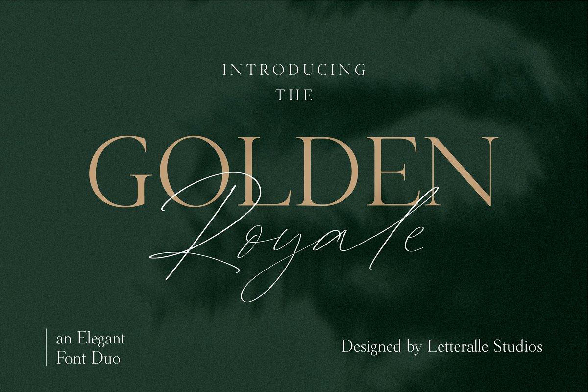 Golden Royale Font Duo