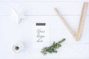 Christmas A6 stationery mock up