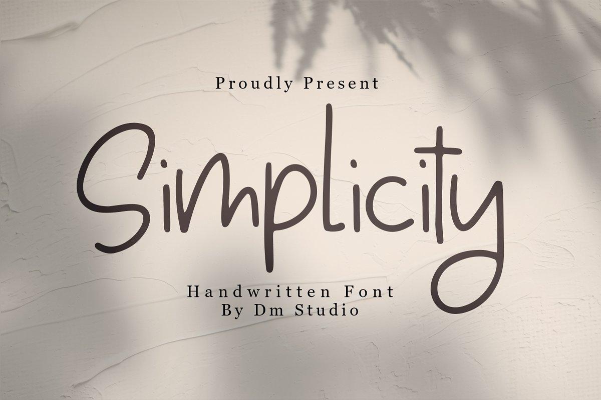 Simplicity - Handwritten Font