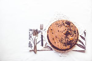 Banana Chocolate Caramel Tart