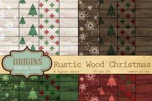 Rustic Wood Christmas Backgrounds