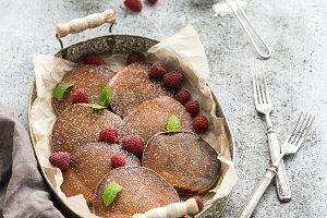 Homemade buckwheat pancakes