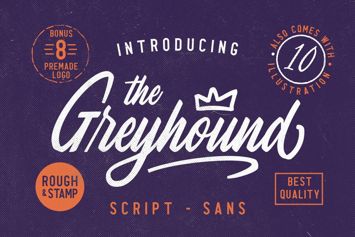 The Greyhound - Font Duo (+BONUS)