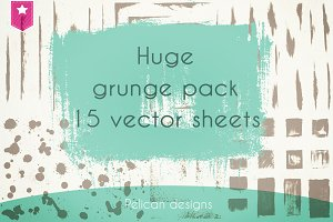 super grunge vector pack