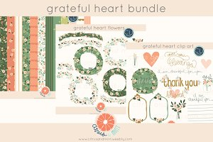 Grateful Heart Clip Art/Papers