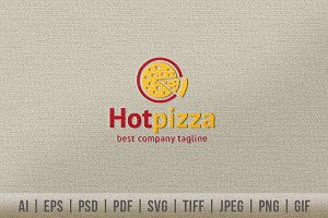 Hot Pizza Logo