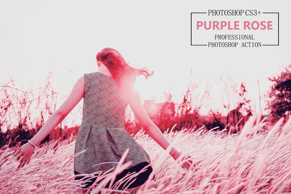 Purple Rose - Photoshop Action