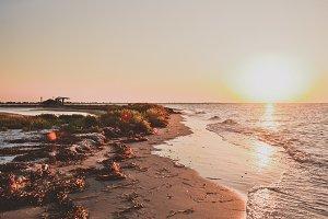 Sea Lanscape at Sunset