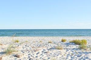 White Sand at Sunny Day near Sea
