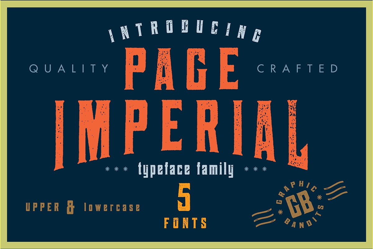 Page Imperial - Vintage Typeface