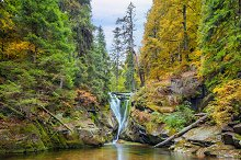Szklarki waterfall in Poland