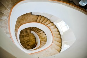 White Round Stair