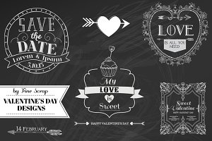 Set of Valentine's Day designs
