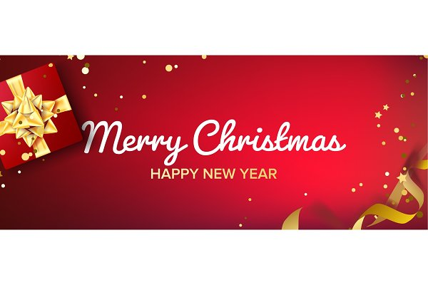 merry christmas banner vector gifts pre designed vector graphics creative market merry christmas banner vector gifts