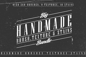 260+ Brushes,Textures&Stains Bundle