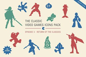 Videogames icons pack 3