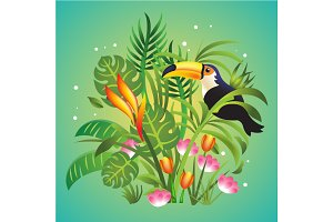 Vector jungle illustration