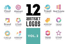 Set of abstract logos vol. 2