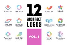 Set of abstract logos vol. 3