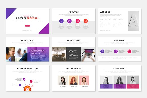 Project Proposal PowerPoint Template in PowerPoint Templates - product preview 1