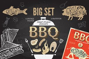 Big barbeque set