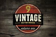 9 Vintage Vector Badges