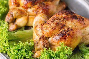 Whole Grilled mini chicken