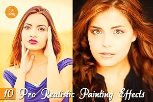 10 Pro Realistic Painting Effects