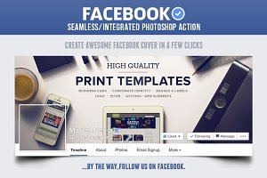 Facebook Seamless Cover Action