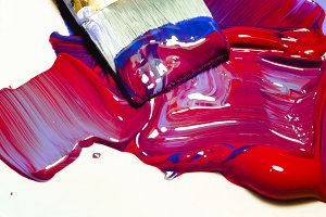 Acrylic Paints Macro View
